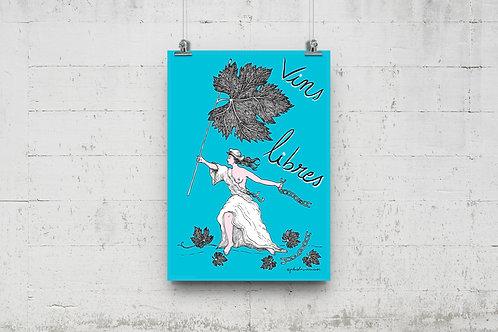 Vins libres, affiche A3