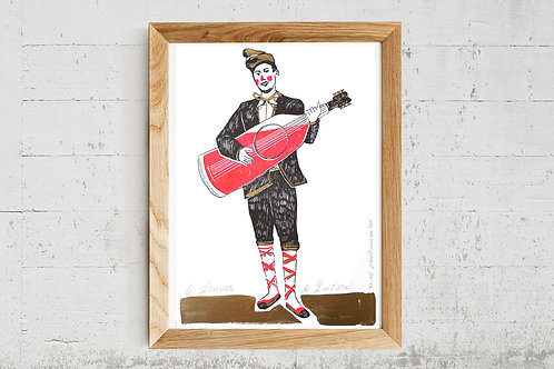 "Illustration "" Le joueur de Guitare "" - Reproduction"