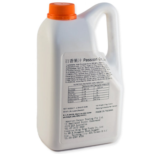 TC Passionfruit Flavor Concentrated Syrup (2.5kg or 2.1L)