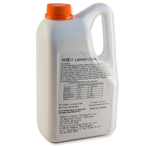 TC Lemon Flavor Concentrated Syrup (2.5kg or 2.1L)