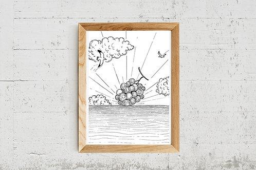 Carte postale Lever de soleil, A5