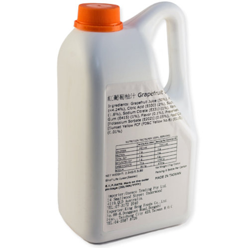 TC Grapefruit Flavor Concentrated Syrup (2.5kg or 2.1L)