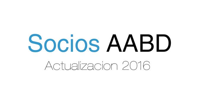 Actualización SOCIOS 2016