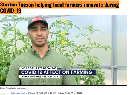 KOLD 13: Startup Tucson helping local farmers innovate during COVID-19