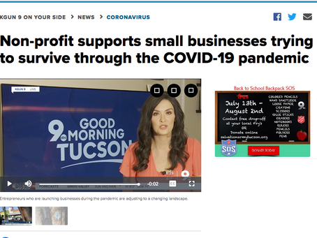 KGUN 9: Non-profit supports small businesses trying to survive through the COVID-19 pandemic