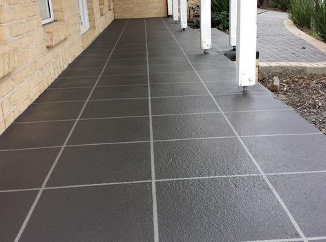 After Concrete Resurfacing TIled Pattern