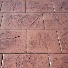 Sidewalk Slate Stamped Concrete