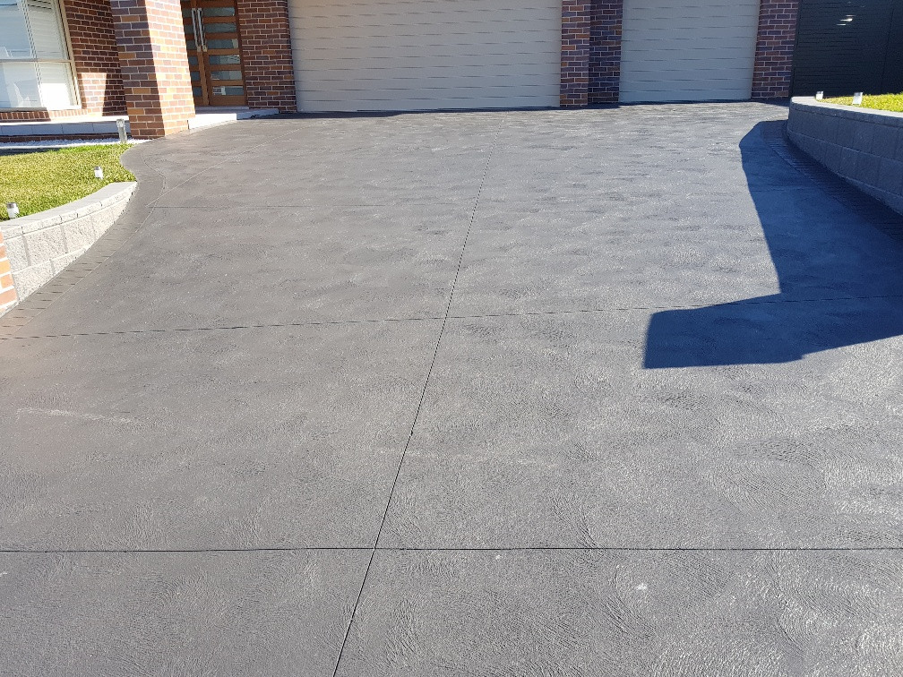 Coloured Concrete Driveway Cove Finish
