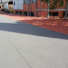 Exposed Aggregate Spray On