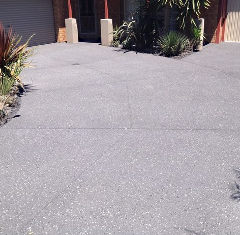 Driveway After Resurfacing - Exposed Pattern