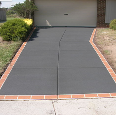 After Concrete Resurfacing - Coloured Fine Grain with Border