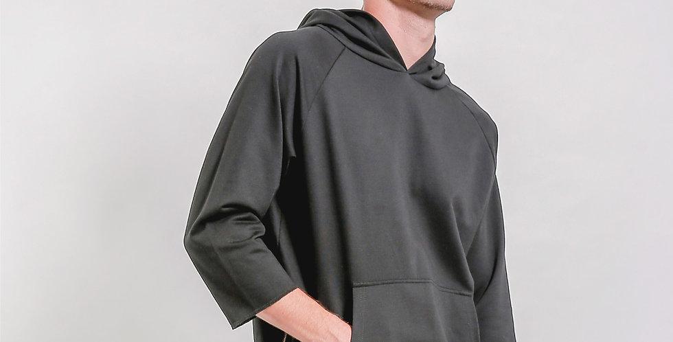 Hem Side Zip Hood