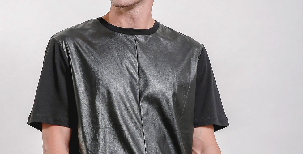Leather Panel Tee
