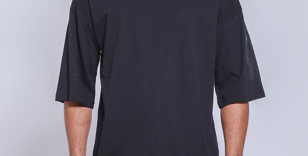 Side Contrast Pocket Tee