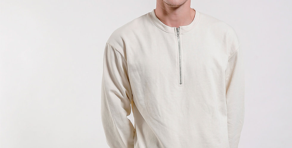 Half Zip Sweatshirt ( Drawstring )