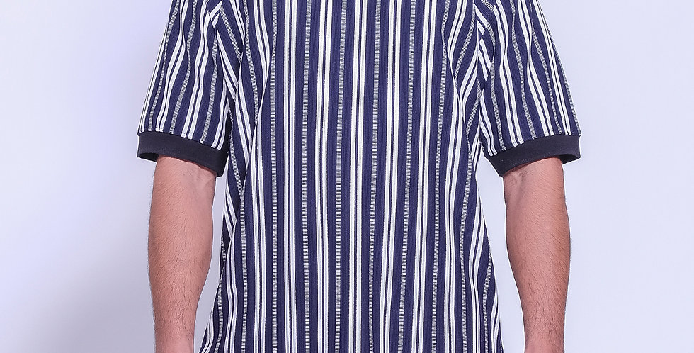 Half Zip Stripes Polo