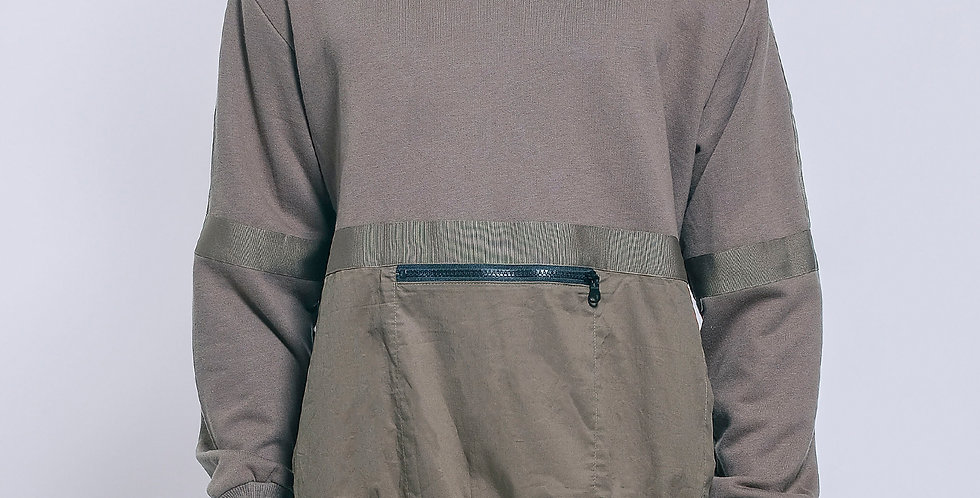 Front Zipped Pocket Sweater