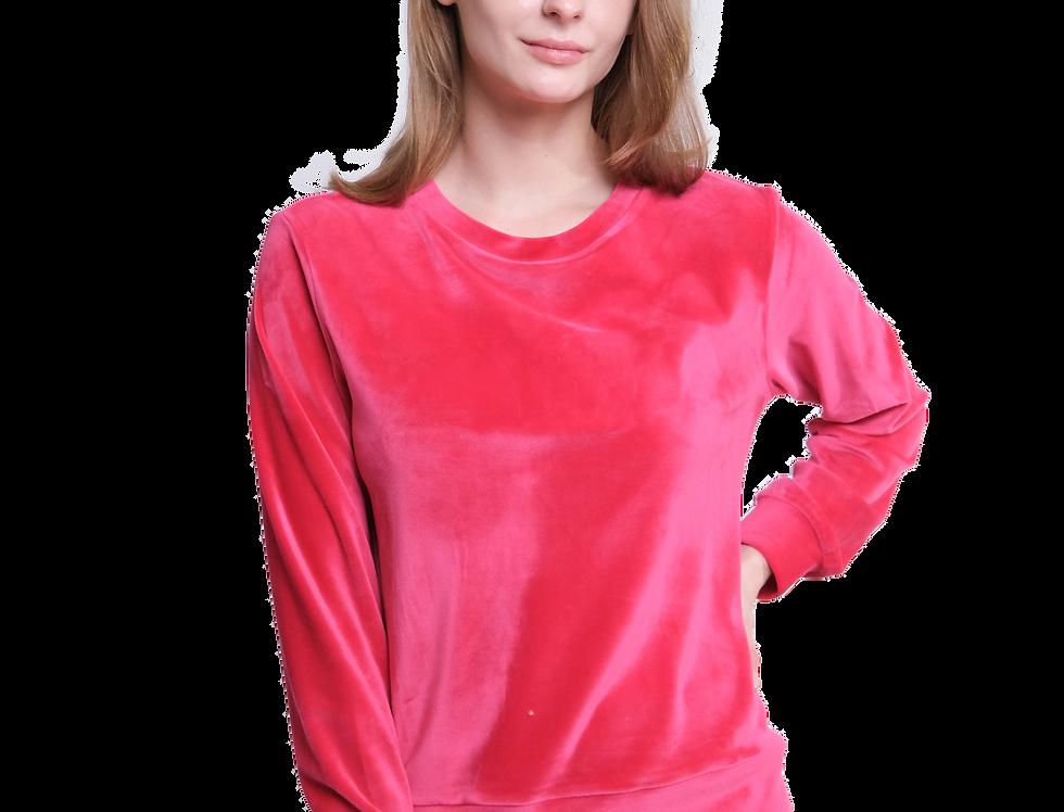Velvet Sweater (Hot Pink)