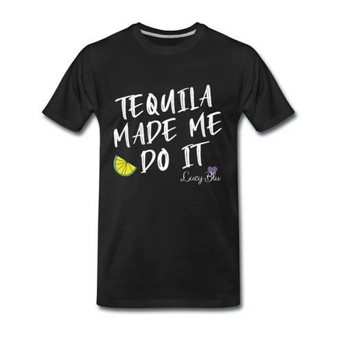 'Tequila Made Me Do It' Tee - Black