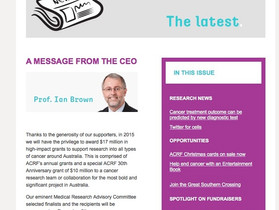 ACRF:      Message from the CEO