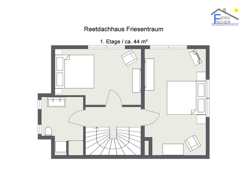Reetdachhaus Friesentraum - 1. Etage_Web