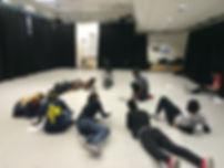 Creative workshop with professional danc