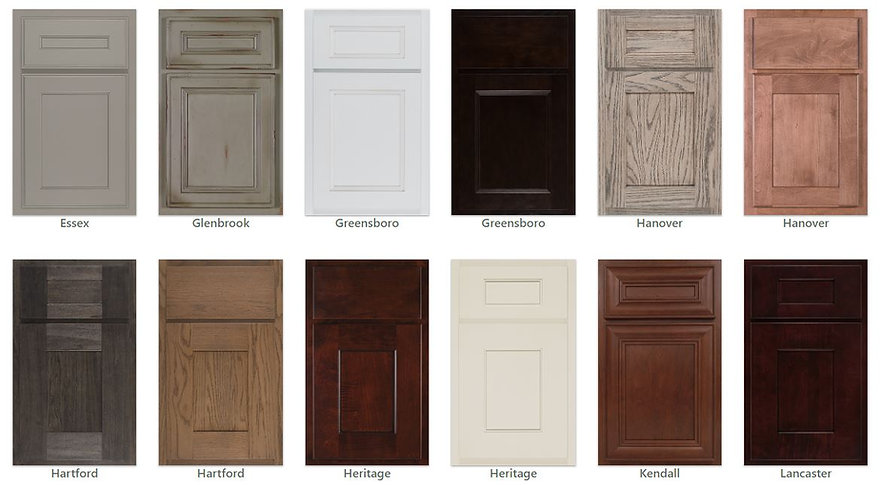 kitchen cabinetry door styles and color choices