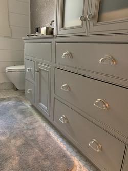 bathroom vanity drawer cup pull