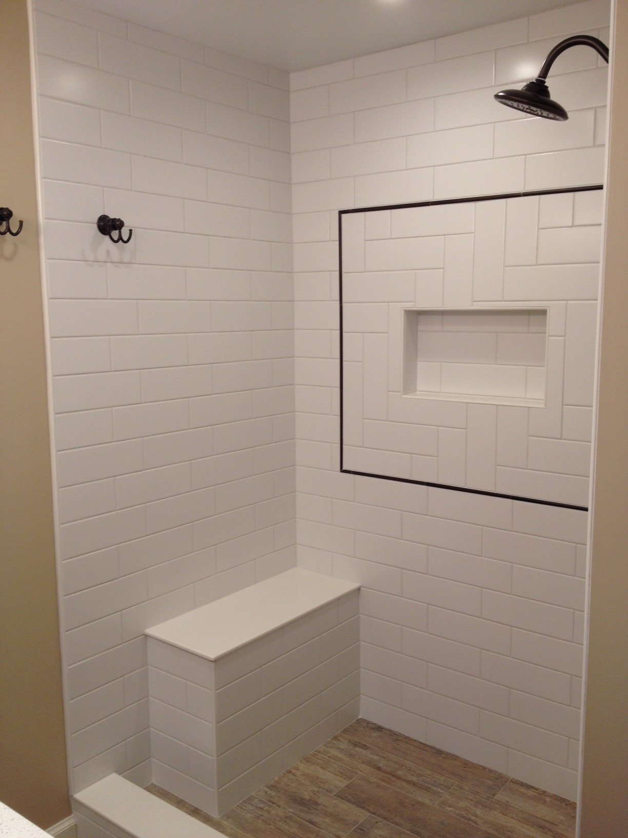 tile shower niche