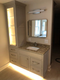 vanity with sink