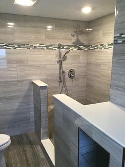 walk in tile shower