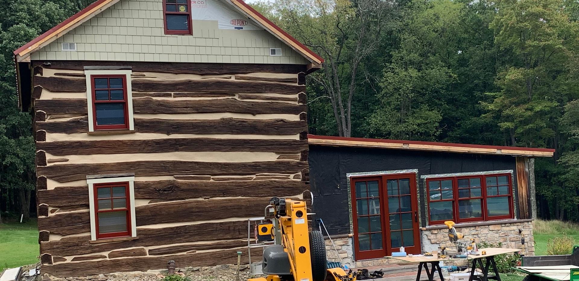 log cabin renovation progress