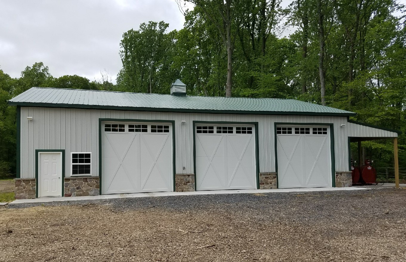 Three Bay Pole Barn Garage