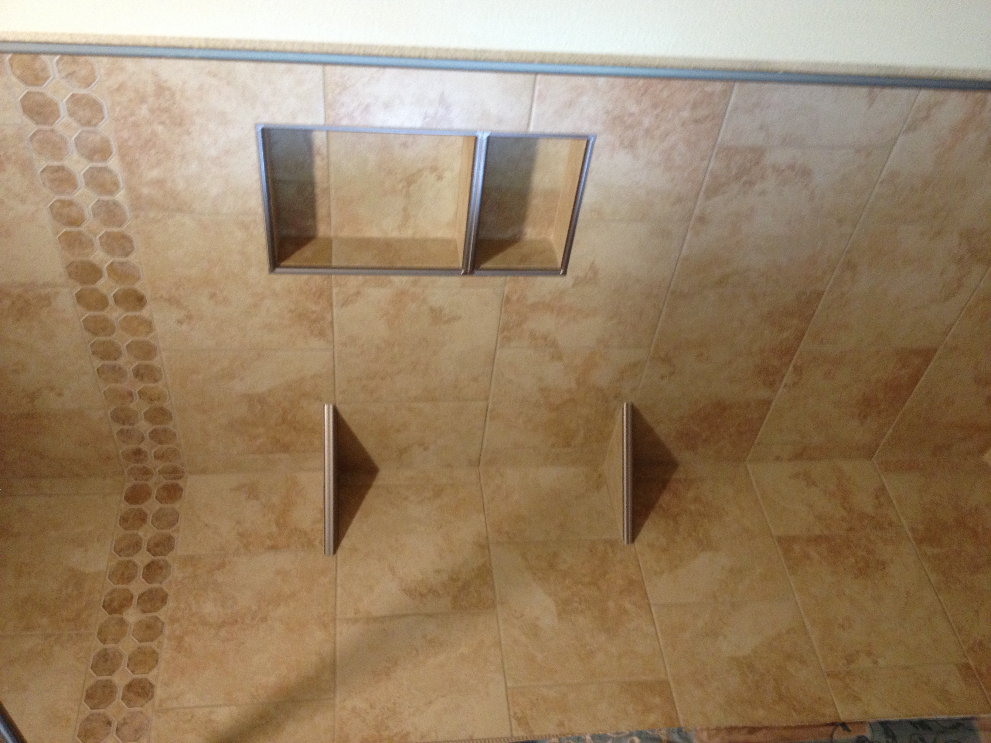 Tile Shower with Shelving