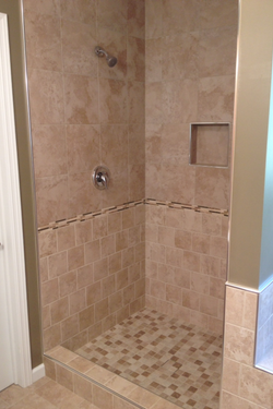 Custom Tile Shower with Inlay