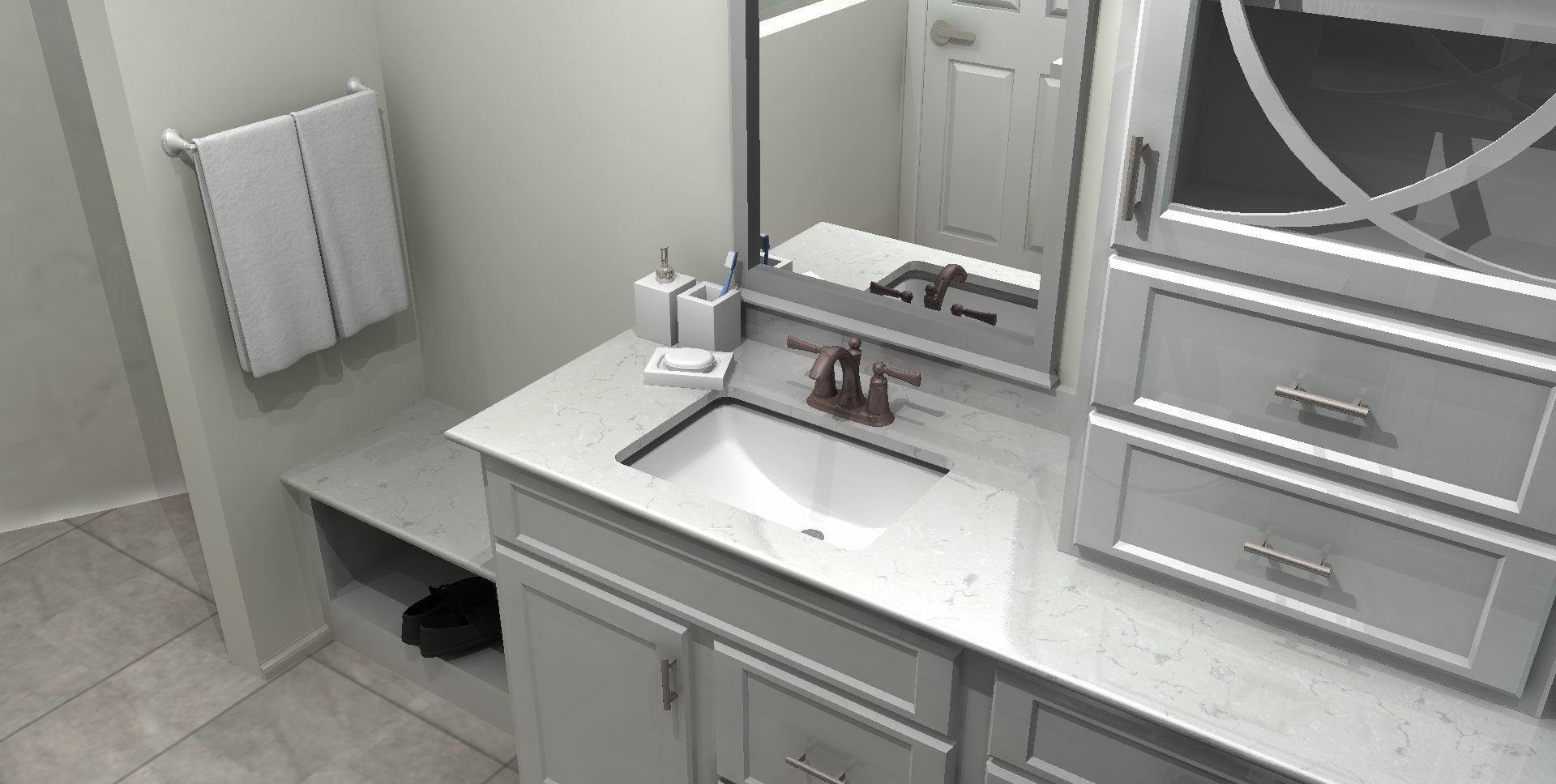 vanity with sink cabinet