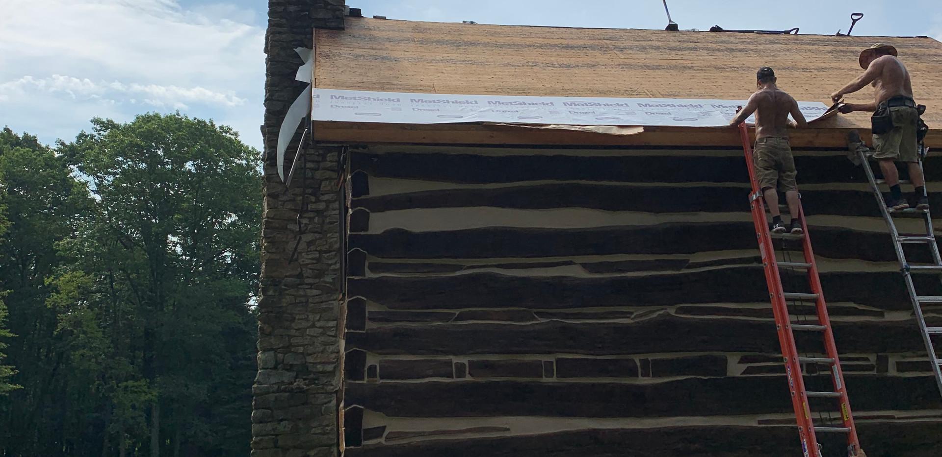 cabin roof demo
