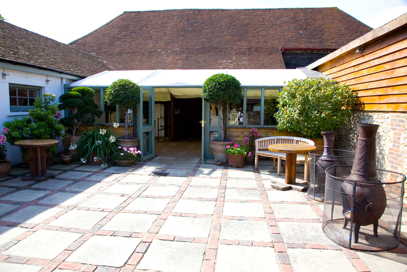 The courtyard at Pangdean