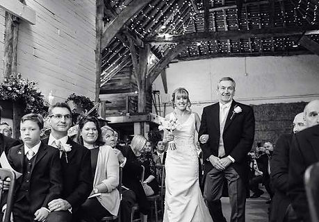 Barn wedding ceremony at Pangdean Old Barn