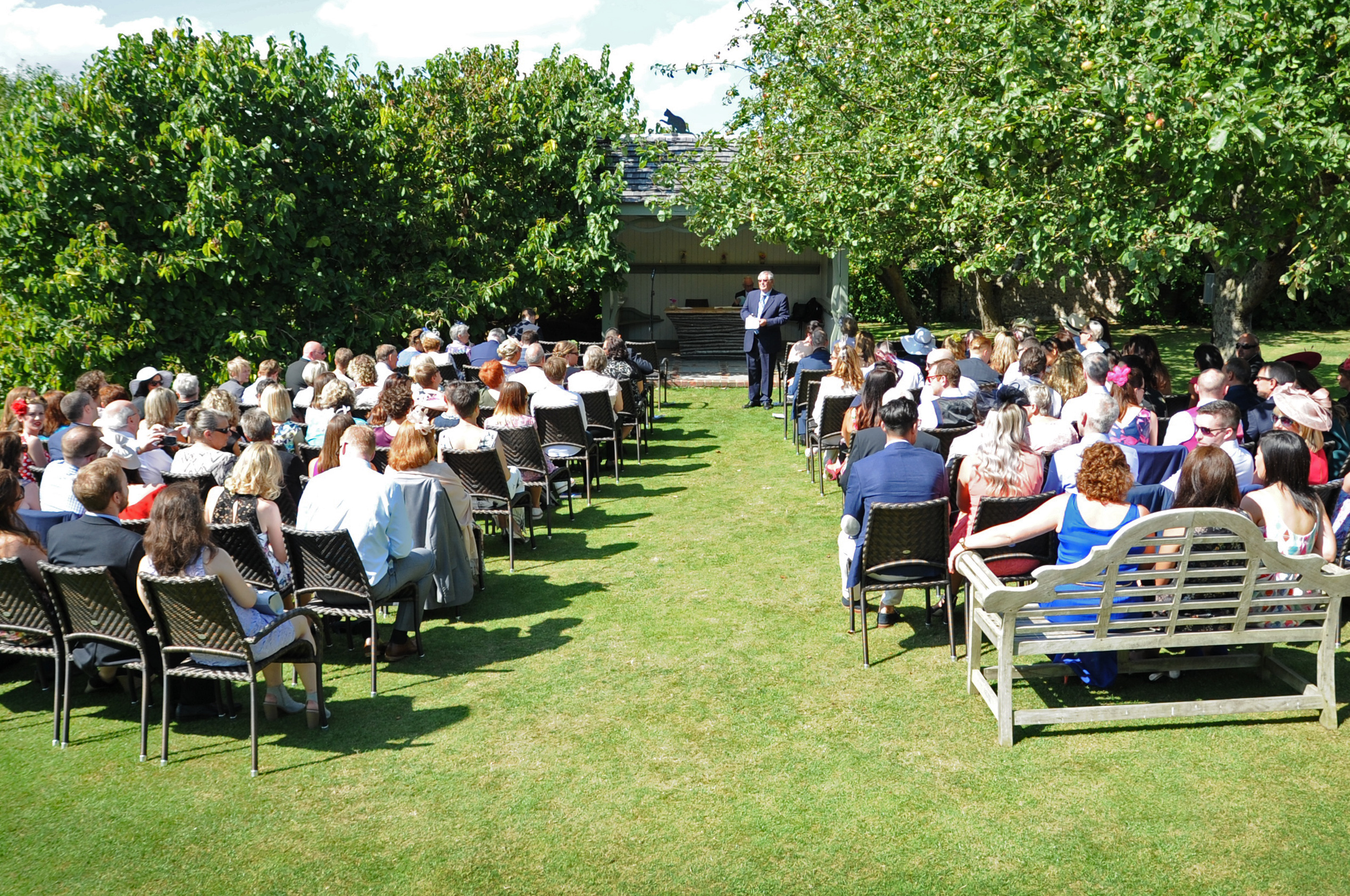 Garden ceremonies at Pangdean