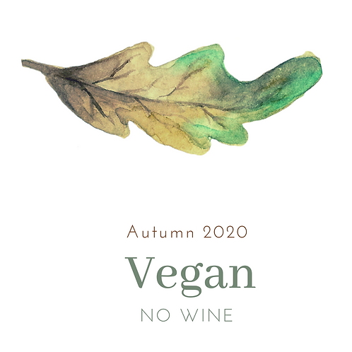 VEGAN menu + NO WINE