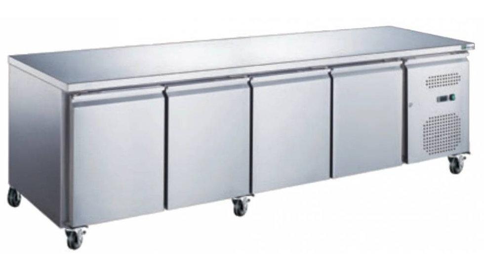 Table réfrigérée 223*60 cm - avec 4 portes
