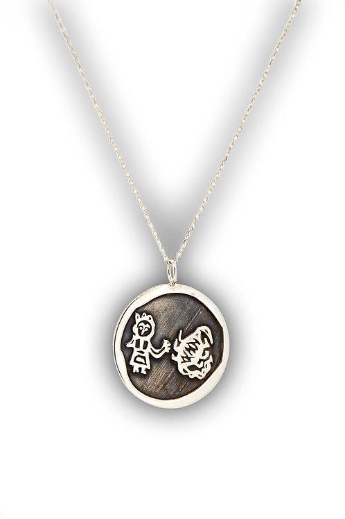 Akrep Burcu Gümüş Kolye