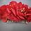 Thumbnail: Carla peigne fleuri écarlate en hortensias stabilisés