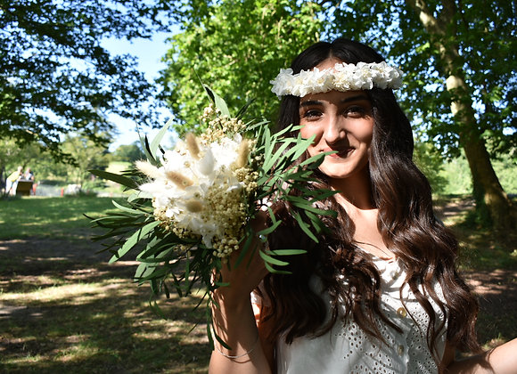 Bouquet Garance en fleurs séchées et stabilisées