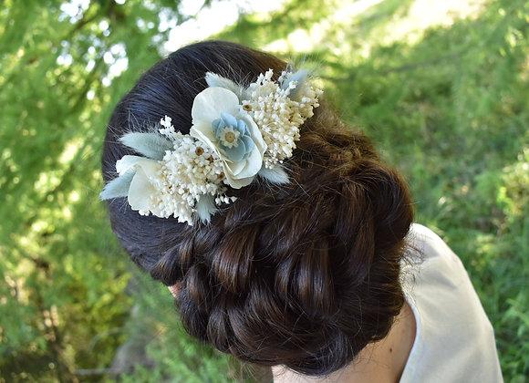 Peigne de mariage Eva en fleurs naturelles stabilisées et séchées