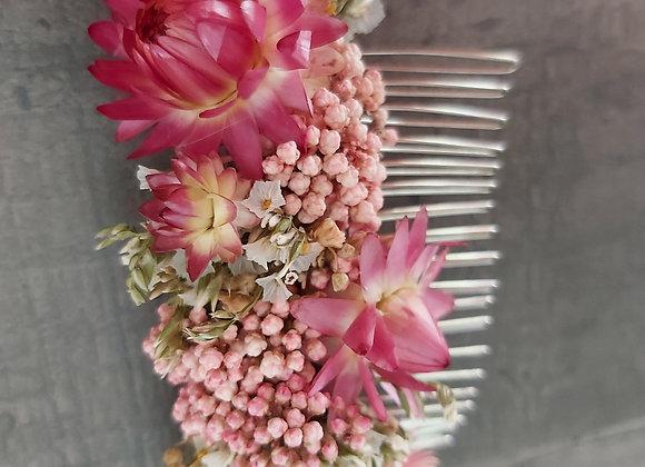 Peigne Gloria en fleurs séchées