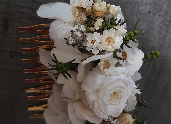 Chiara peigne en fleurs séchées et stabilisées