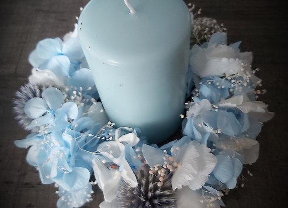 Célestine couronne décorative pour vos tables ou murs en fleurs  stabilisées