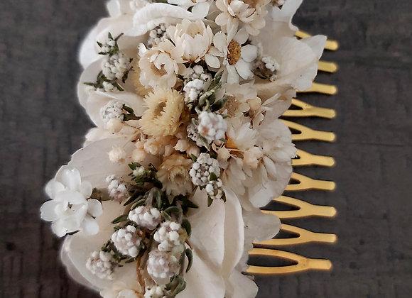 Peigne Louisette en fleurs stabilisées